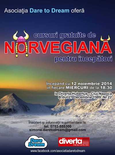 Dare to Dream - Afis Curs Norvegiana 2014